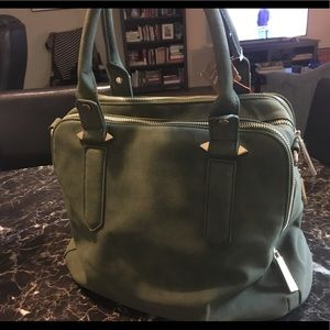 Triple Compartment Satchel in Olive